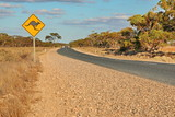 Australian outback endless road