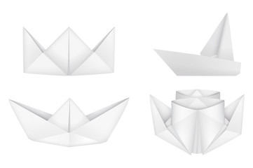 Origami ships set