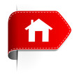 Schild Pfeil Haus rot