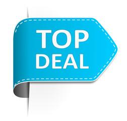 Schild top Deal blau