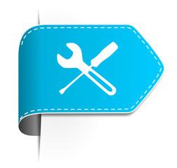 Schild Pfeil Service blau
