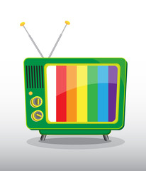 colorful retro television
