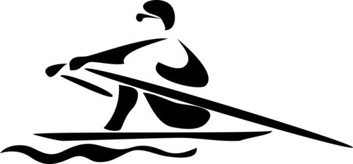stylized rower