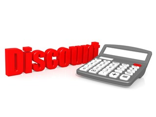 Discount with calculator