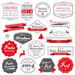 Button Siegel Weihnachten frohes Neues Jahr 2014 Neujahr