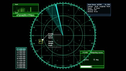 Sonar tactical readout of an incoming object
