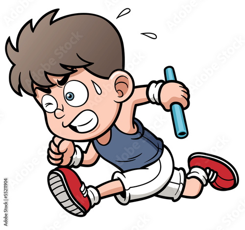 Vector illustration of Runner boy