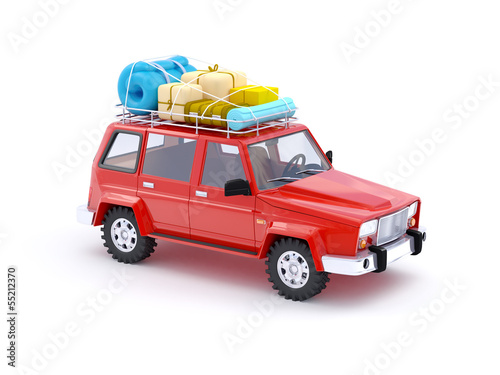 red SUV adventure