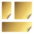 Sticker Set mit gebogener Ecke - gold