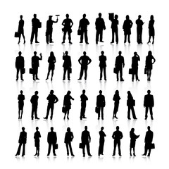 Business people silhouettes. Vector.