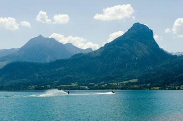 Waterskiing on the Wolfgangsee