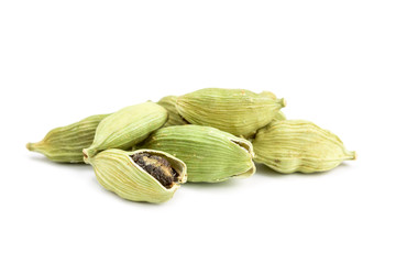 cardamom on white background