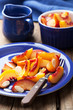 nectarines and plums in syrup