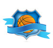 basketball tennis shield seal illustration