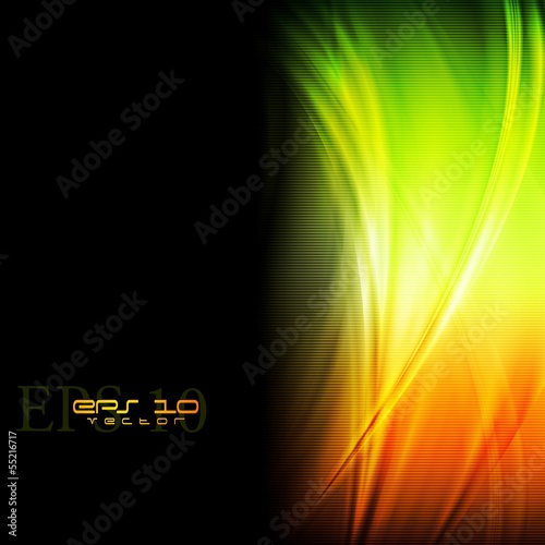 Colourful waves vector design