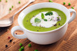 Bowl of healthy pea soup
