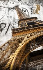 cartolina vintage della tour Eiffel