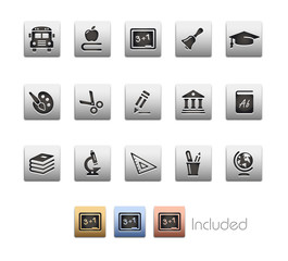Education Icons_Vector includes 4 color versions= Layers