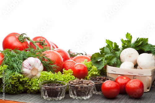 Fototapeten,salate,gewürtz,tomaten,gemüse