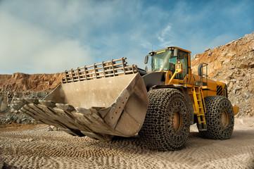 heavy building bulldozer quarry,car