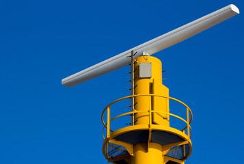 Close-up of a radar installation