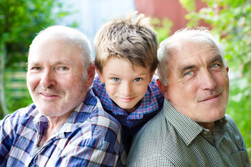 Grandson with grandparents