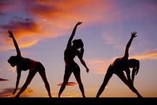 Silhouette femme de fitness danse Treo