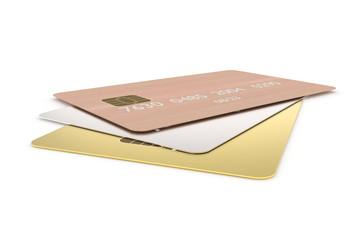 Bankkarten Gold Silber Holz