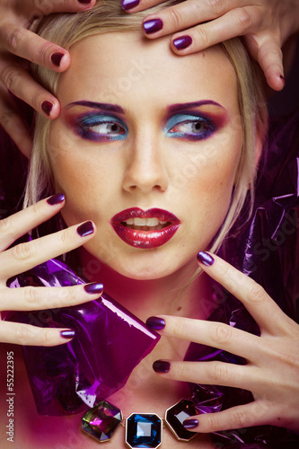 beauty woman with creative make up