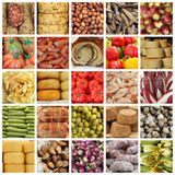 italian food market collage