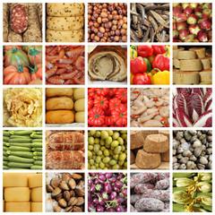 italian food market collage