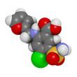 Furosemide diuretic drug, chemical structure.