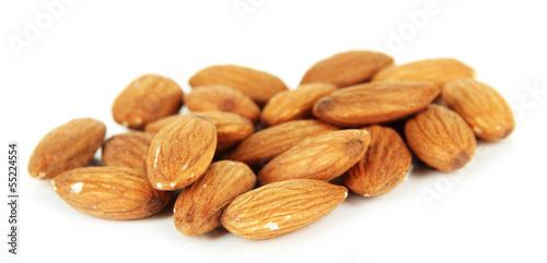 Almond , isolated on white