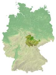 Topografische Reliefkarte thüringen (Deutschland)