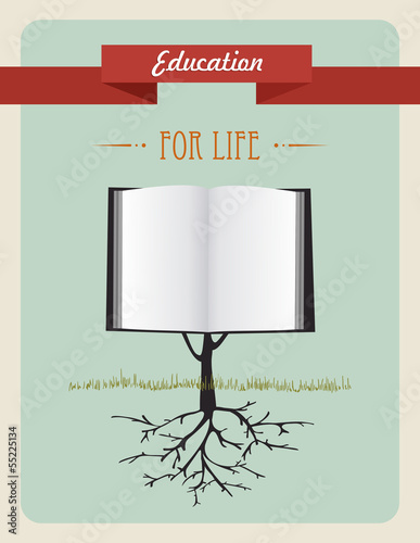 Education tree book concept.