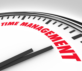Time Management Words Clock Timer Managing Hours
