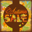 Autumn sale poster, vector illustration
