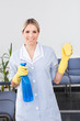 Maid With Bottle And Sponge