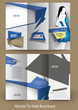 Tri-fold Fashion Brochure Design Vector Illustartion.