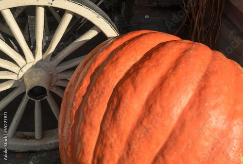 Pumpkin and cartwheel