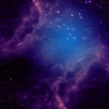 Space background with purple clouds - 55229304