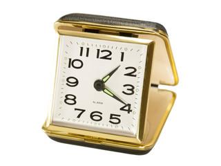 Vintage, Black, Key Wound, Folding Travel Alarm Clock
