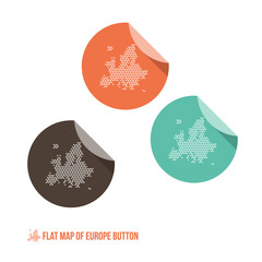 Map of Europe Button