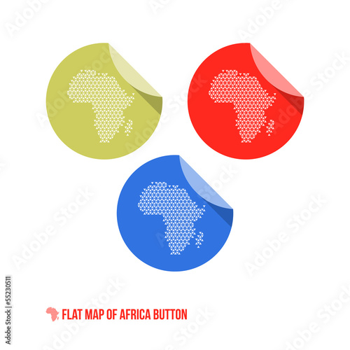 Map of Africa Button
