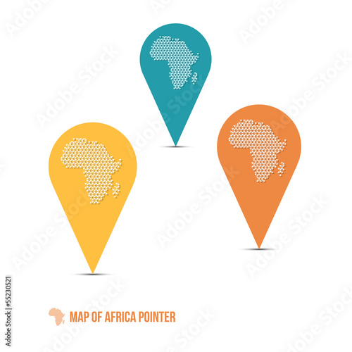 Map of Africa Pointer