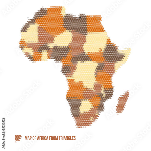 Map of Africa from Triangles