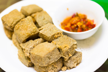 chinese food,fried strong-smelling fermented bean curd