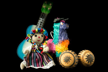 Mexican Doll and Toys