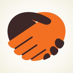 handshake icon stock vector