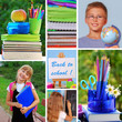 collage with back to school concept